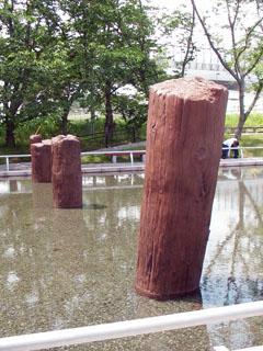 近くで見た旧相模川橋脚