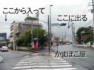 旧東海道と国道の分岐点