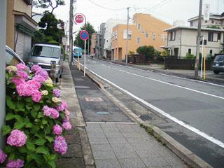 新宿町から鍋町へ向かう道