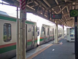 二宮駅のホーム