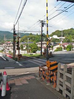 箱根登山鉄道の踏切