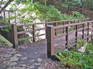 猿沢を渡る猿橋