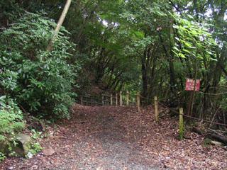 須雲川自然探勝歩道の入り口