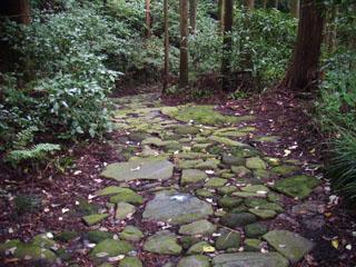 江戸時代の石畳