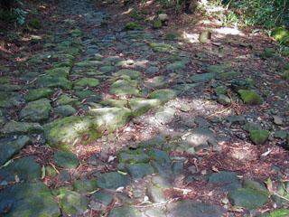 石畳の排水溝