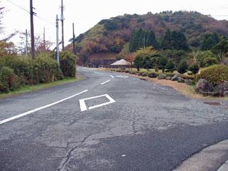 駐車場の裏から続く東海道