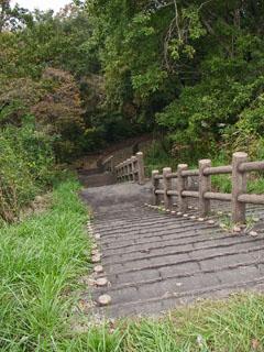 富士見平から上長坂地区の石畳へ