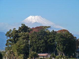 新町橋から見た富士山