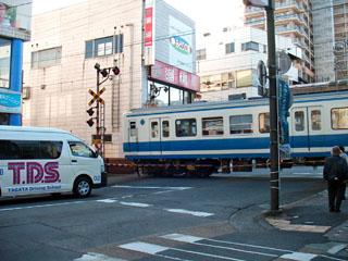 伊豆箱根鉄道の踏切