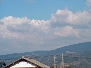 沼津市桃里から見た富士山