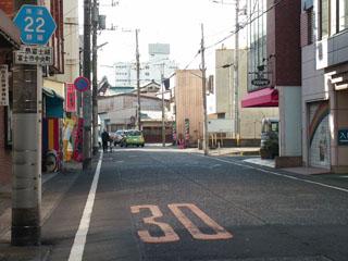 吉原商店街を出た旧東海道