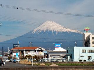 本市場から見る富士山