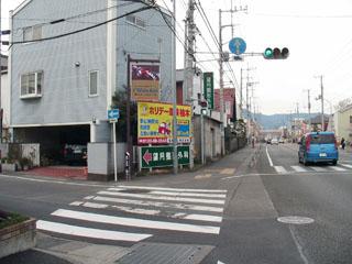 旧東海道はここを左折