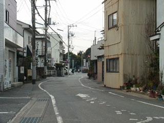 県道396号から離れた旧東海道