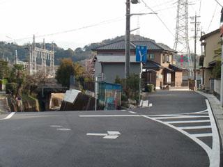 新幹線手前の分岐点